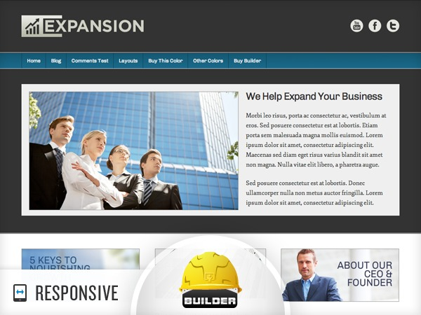 WordPress theme Expansion - Blue