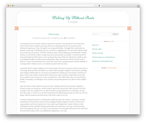 WordPress theme Sugar and Spice - wakingupwithoutpants.com