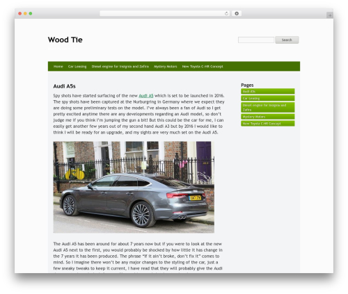 WordPress theme Whispy - woodtie.com