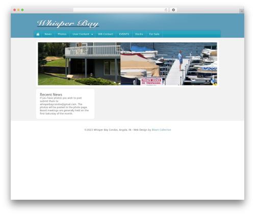 WordPress website template Barely Corporate - whisperbaycondo.com