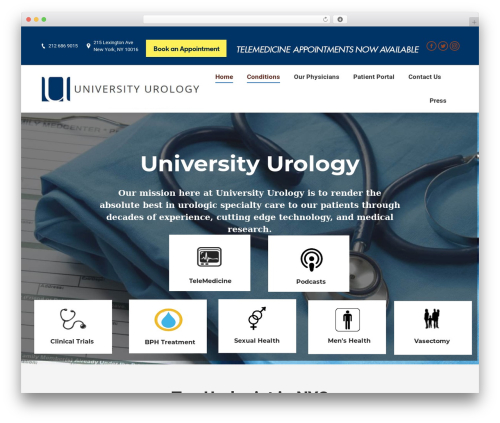 WP theme The7 - universityurology.com