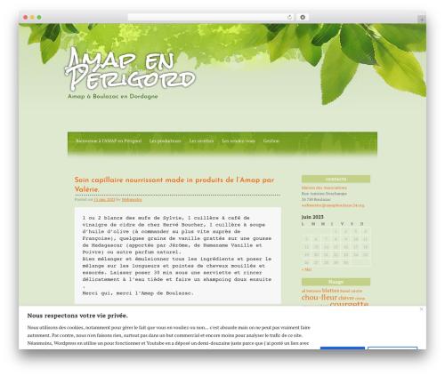 All Green WordPress theme - amapboulazac24.org