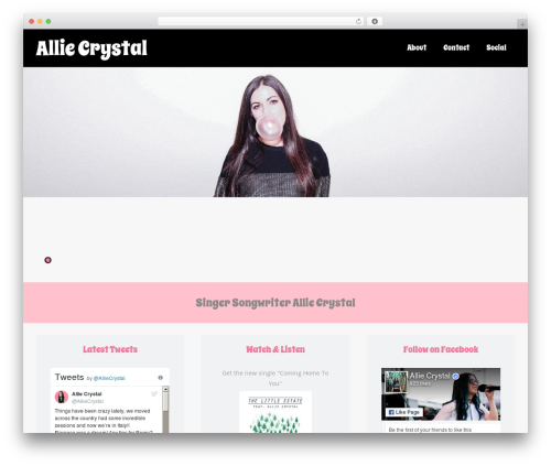 Asteria PRO WordPress theme - alliecrystalmusic.com
