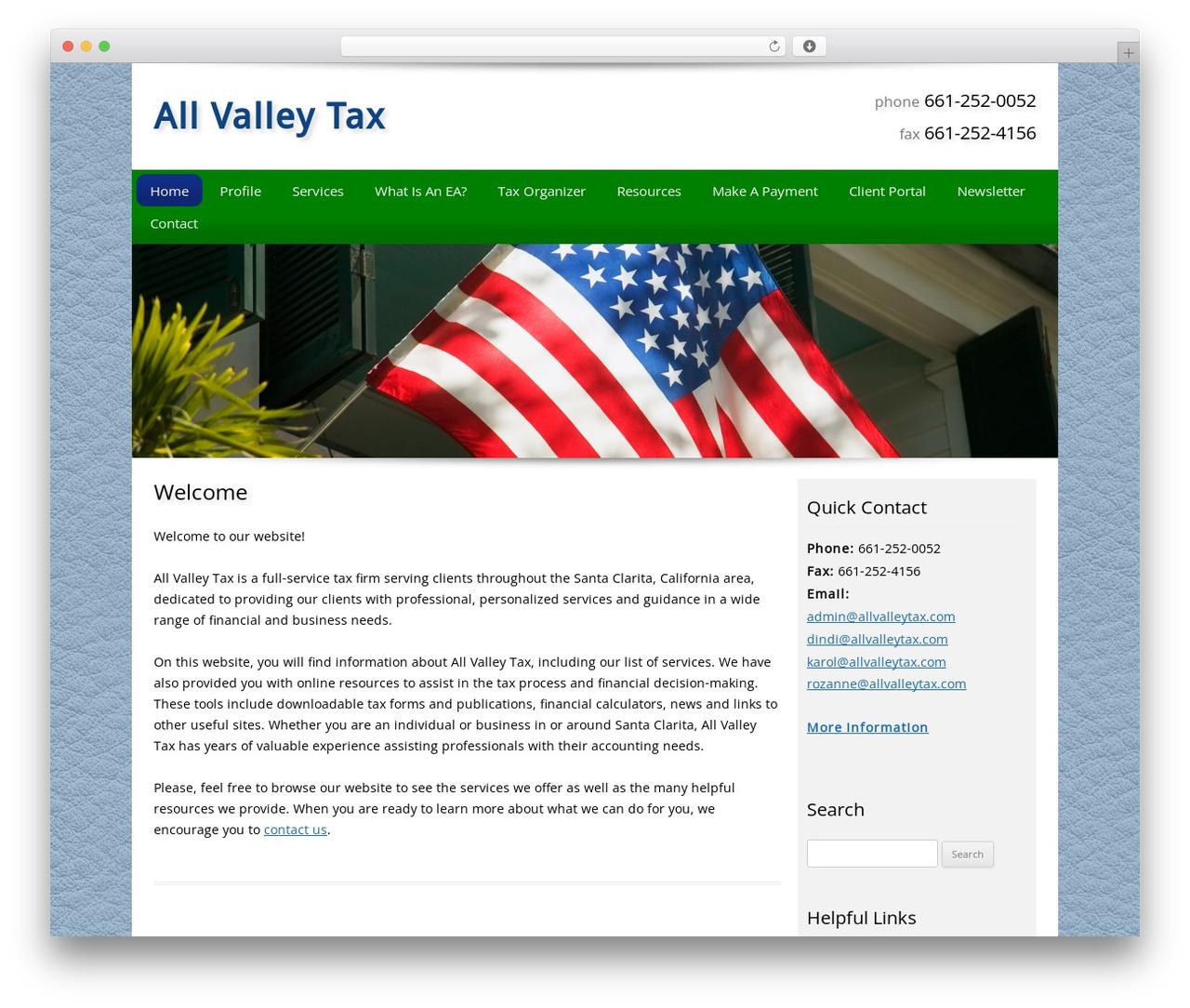 Best WordPress template Customized - allvalleytax.com