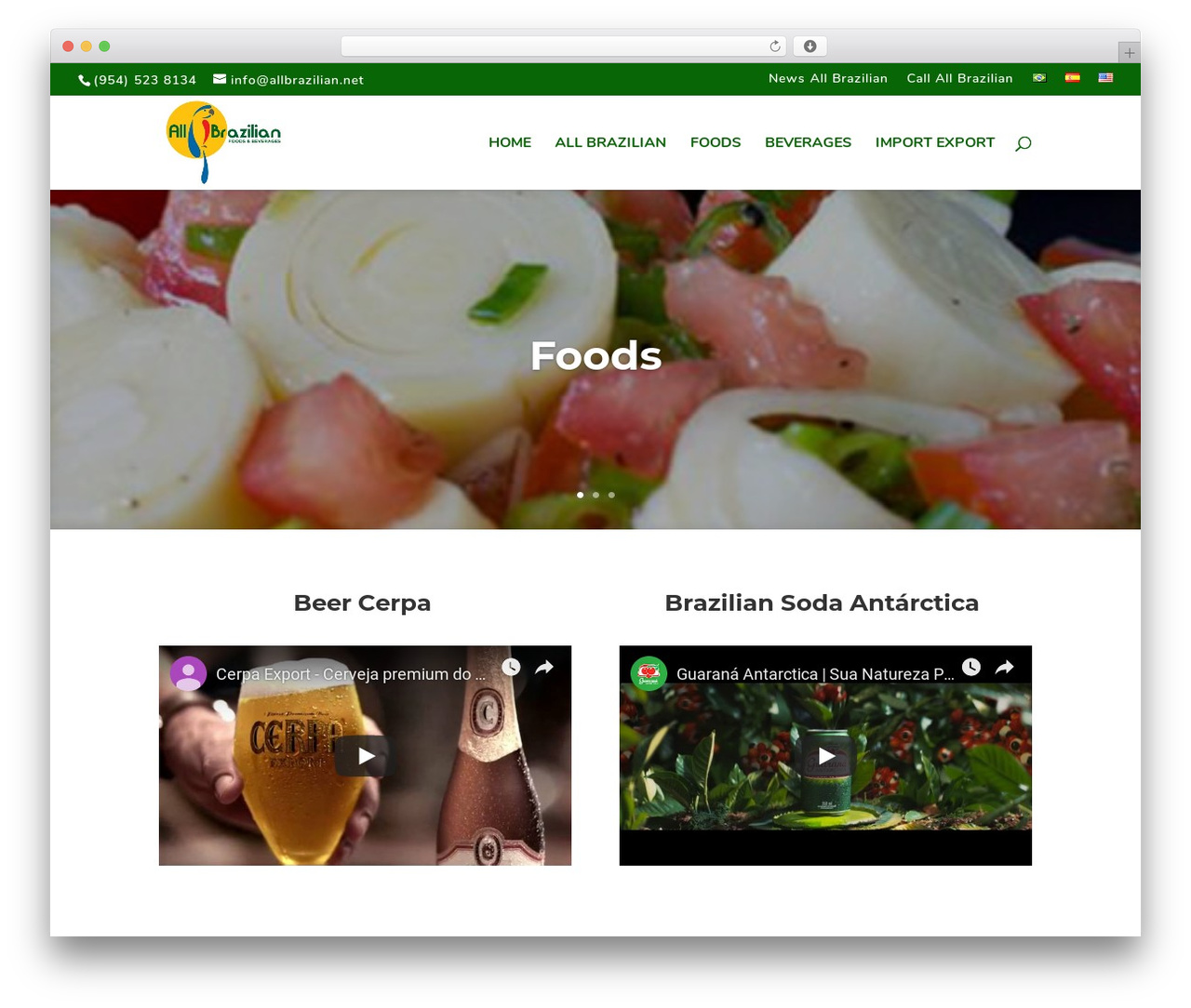 Divi food WordPress theme - allbrazilian.net