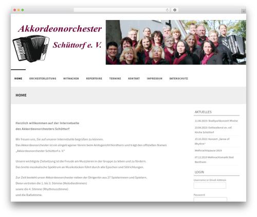 Formation free WordPress theme - akkordeonorchester-schuettorf.de
