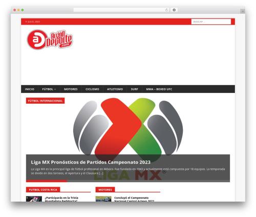 MH Magazine WordPress news template - accionydeporte.com