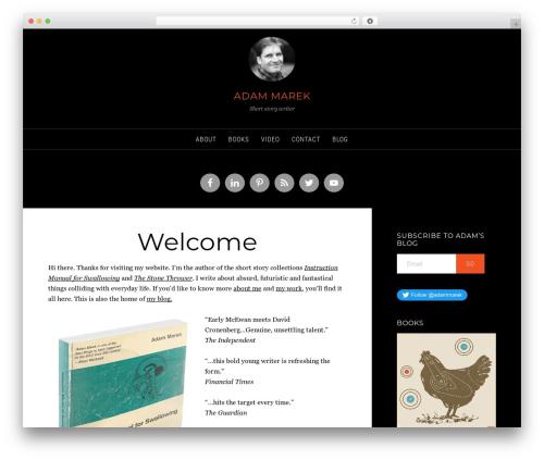 Sixteen Nine Pro Theme WordPress blog theme - adammarek.co.uk