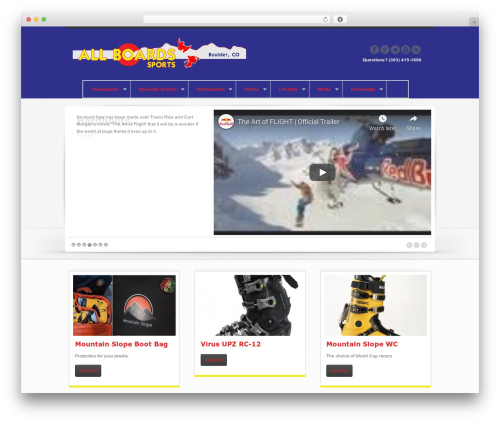 Swagger WordPress ecommerce theme - allboardssports.com