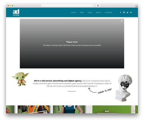 The7 business WordPress theme - adhomecreative.com