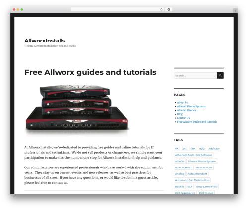 Twenty Sixteen theme WordPress - allworxinstalls.org