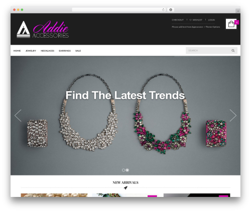 UberStore WP template - addieaccessories.com