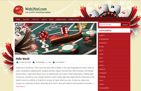 WordPress template Casinostar