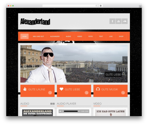 WordPress template K-BOOM - alexanderland.de