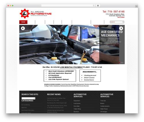 WordPress Theme Number motors WordPress theme - allaroundautomotiverepair.com