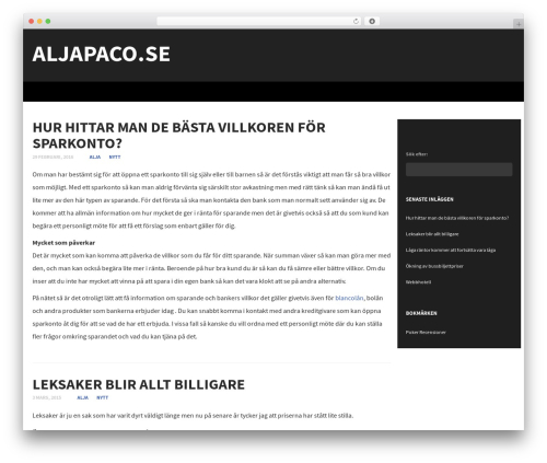 WordPress website template Subtle - aljapaco.se