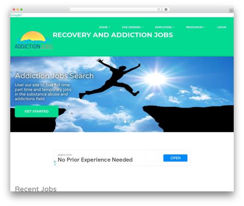 WP template Jobify - addictionjobsboard.com