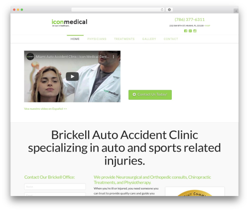 X WordPress template - accidentclinicbrickell.com