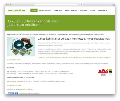 Appointment best WordPress theme - akkujenuudelleenkennotus.fi