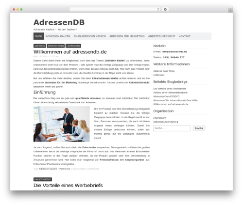 Codium Extend WordPress blog theme - adressendb.de