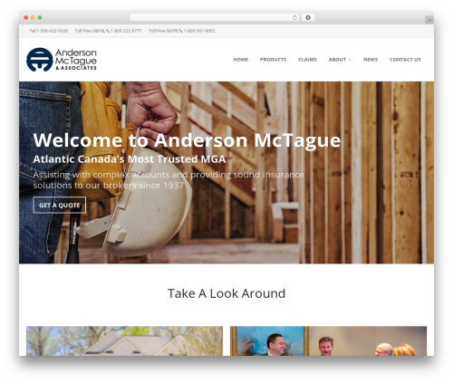 Insurers WordPress theme - andersonmctague.com
