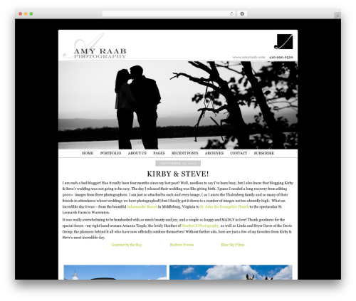 ProPhoto WordPress theme - amyraabblog.com