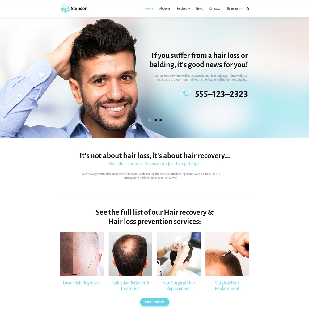 Samson WordPress website template