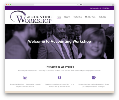 The7 WordPress ecommerce theme - accounting-workshop.co.uk