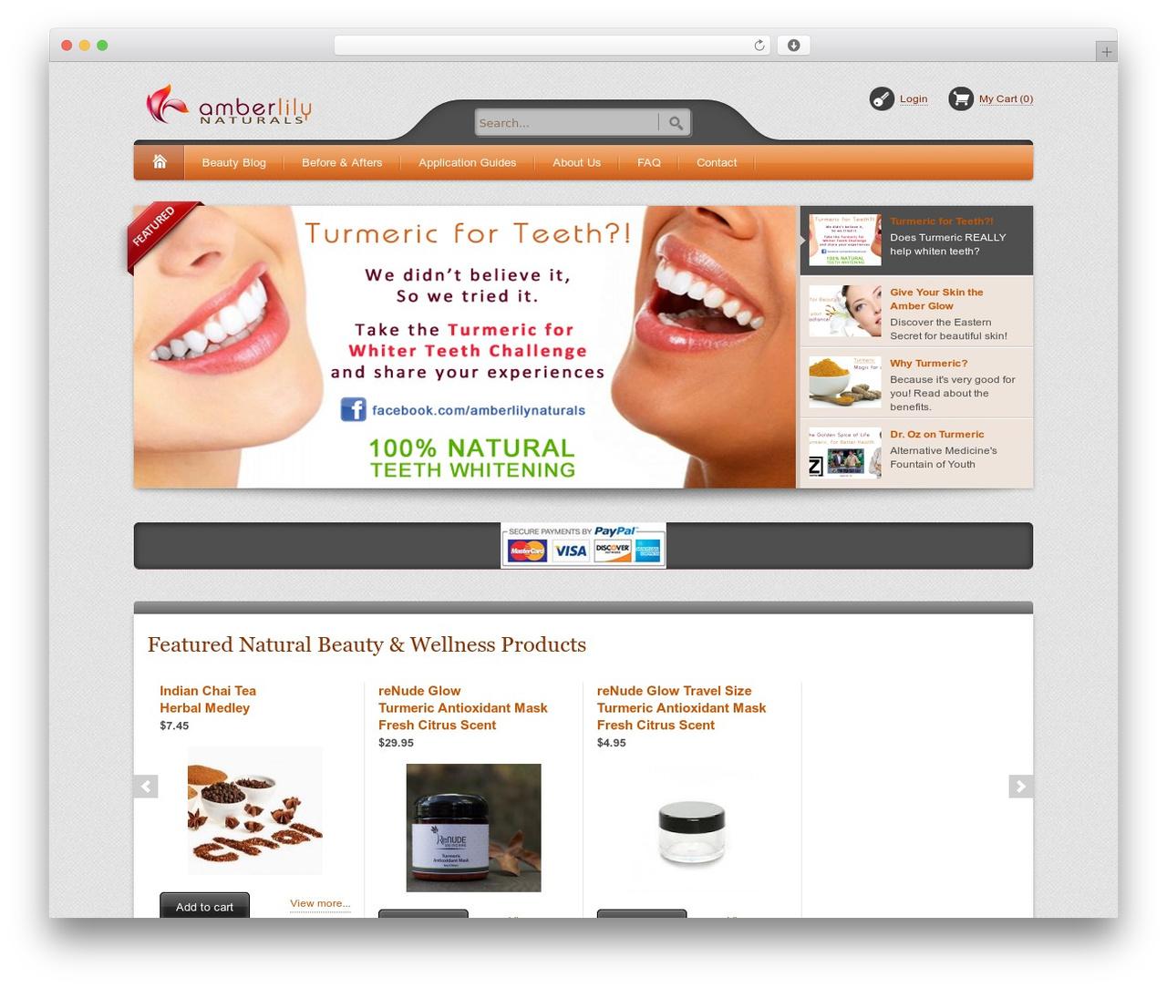 Theme WordPress Bellissima - amberlilynaturals.com