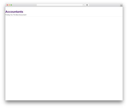 WordPress template Delegate - accountantz.co.uk