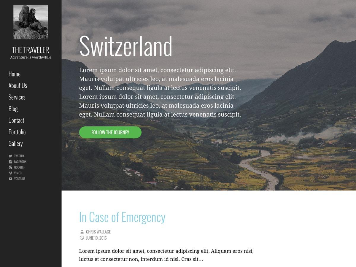 WordPress theme Escapade