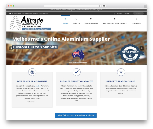 WordPress theme Jupiter - alltradealuminium.com.au