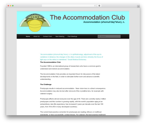 WordPress theme Twenty Eleven - accommodationclub.org