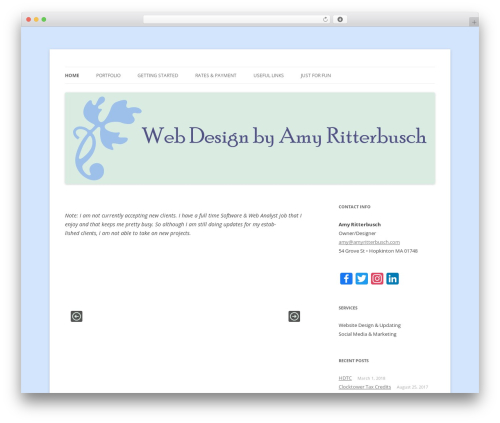 WordPress theme Twenty Twelve - amyritterbusch.com