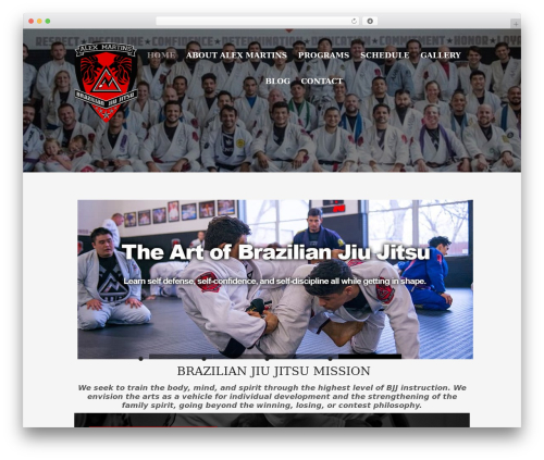 WP theme Workout - alexmartinsbrazilianjiujitsu.com