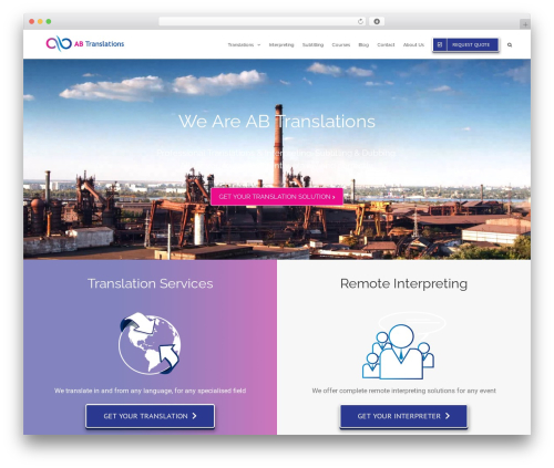 Avada WordPress page template - ab-translations.com