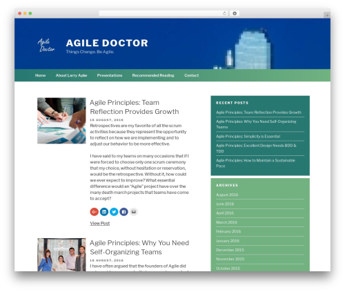 Chandigarh free website theme - agile-doctor.com