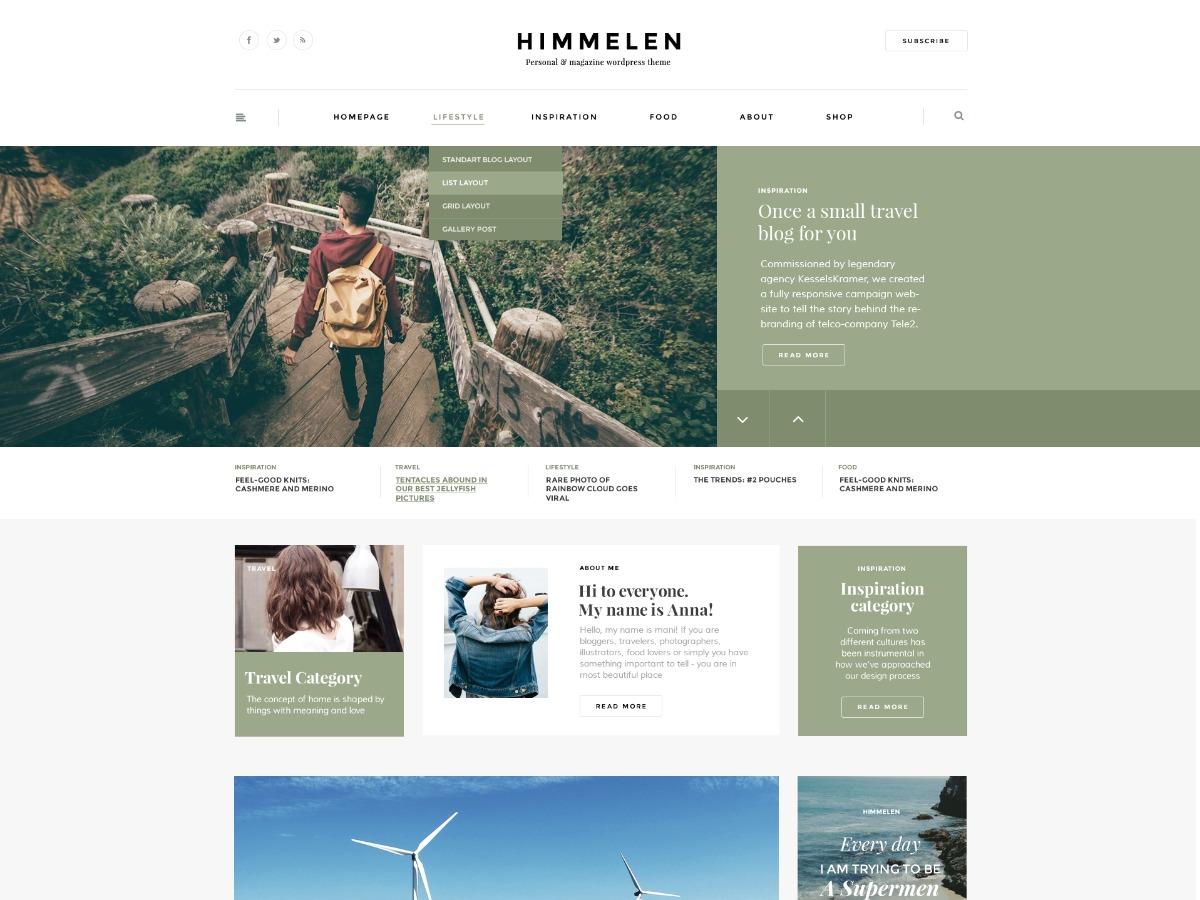 Himmelen Themekiller.com WordPress blog theme