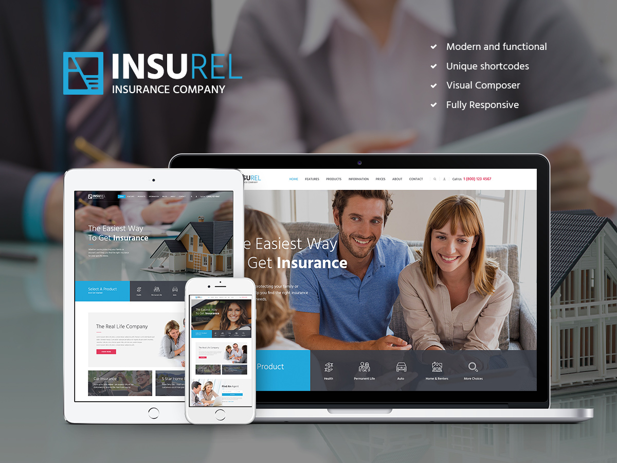 InsuRel Child top WordPress theme