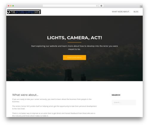 Rocked template WordPress - actorscornernyc.com