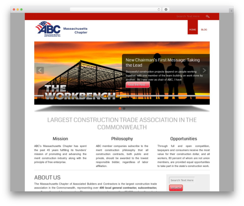 Small Business WordPress template free - abcmablog.org