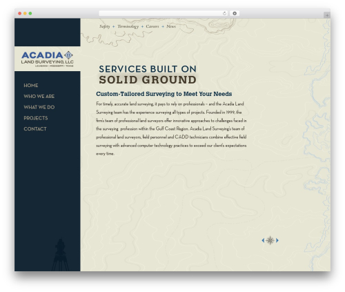 WordPress theme Master Theme - acadialandsurveying.com