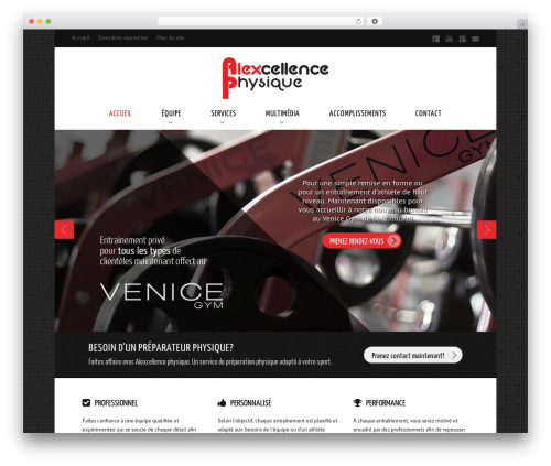 WordPress website template Balance - alexcellencephysique.com