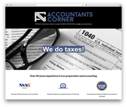 X WordPress template - accountants-corner.com