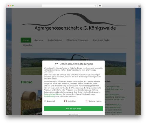 zeeFlow theme WordPress - agrarkoenigswalde.de