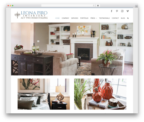Avada WordPress page template - acttwohomestaging.com