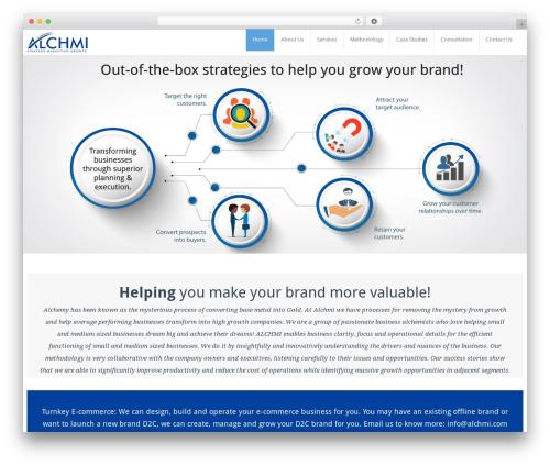 BusiProf Pro business WordPress theme - alchmi.com
