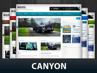 Canyon WordPress theme design