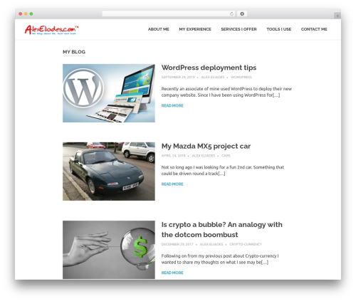 Poseidon WordPress template - alexeliades.com