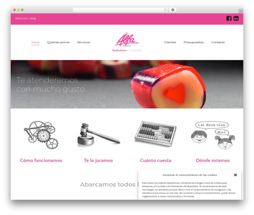 The Core Parent WordPress theme design - alfa.es